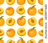 vector seamless pattern with... | Shutterstock .eps vector #683897680