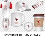 ceramic and paper coffee cup  t ... | Shutterstock .eps vector #683898160