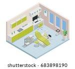 modern isometric dentist clinic ... | Shutterstock .eps vector #683898190
