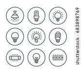 lighting  light bulbs line... | Shutterstock .eps vector #683898769