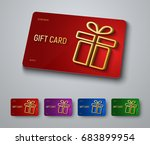 gift card design with a gold 3d ... | Shutterstock .eps vector #683899954