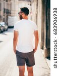 hipster handsome male model... | Shutterstock . vector #683906938