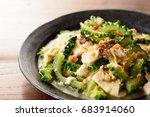 japanese food  goya chanpuru ... | Shutterstock . vector #683914060