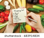 Small photo of Vegetables shopping list