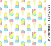 seamless pattern.colorful ice... | Shutterstock .eps vector #683917198