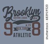 athletic sport brooklyn... | Shutterstock .eps vector #683919520