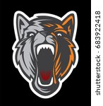 wolf logo   dog head logotype.... | Shutterstock .eps vector #683922418