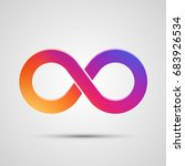 infinity symbol with color... | Shutterstock .eps vector #683926534