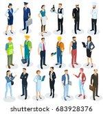 isometric 3d flat design vector ... | Shutterstock .eps vector #683928376