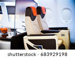 commercial passengers airplane... | Shutterstock . vector #683929198