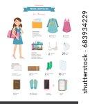 packing a hospital bag.... | Shutterstock .eps vector #683934229