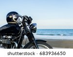 classic motorcycle on the beach | Shutterstock . vector #683936650