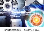 concept of abstract drawing of...   Shutterstock . vector #683937163