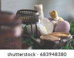 spa feet and hand thai massage... | Shutterstock . vector #683948380