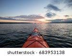 kayaking near kitsilano in... | Shutterstock . vector #683953138