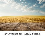 close up of old empty wooden...   Shutterstock . vector #683954866