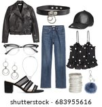 mood board fashion clothes ...   Shutterstock . vector #683955616