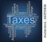 taxes word cloud | Shutterstock .eps vector #683955838