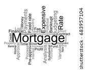 mortgage tag cloud | Shutterstock .eps vector #683957104