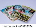 stack of vintage reader' digest ... | Shutterstock . vector #683957374