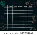 school plan schedule template... | Shutterstock .eps vector #683960464