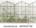 industrial greenhouses | Shutterstock . vector #683963728