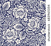 oriental vector decorative...   Shutterstock .eps vector #683965354