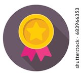badge vector icon  | Shutterstock .eps vector #683966353