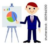 businessman showing... | Shutterstock . vector #683966500
