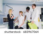manager in the dental clinic   Shutterstock . vector #683967064