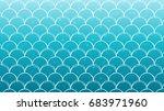 mermaid scale on trendy...   Shutterstock .eps vector #683971960