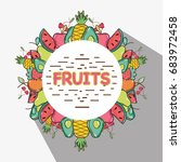 delicious and fresh tropical...   Shutterstock .eps vector #683972458