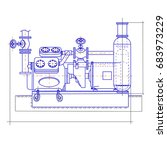 free drawing of the compressor... | Shutterstock .eps vector #683973229