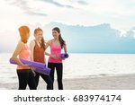 young asian girl group with...   Shutterstock . vector #683974174