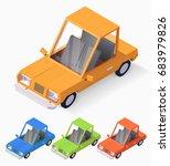 vector isometric car... | Shutterstock .eps vector #683979826
