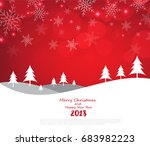merry christmas and happy new... | Shutterstock .eps vector #683982223