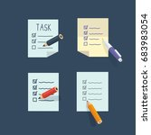 task list icons set. vector... | Shutterstock .eps vector #683983054