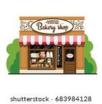bakery shop. bakery shop in... | Shutterstock .eps vector #683984128