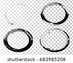 vector frames. ovals for image. ... | Shutterstock .eps vector #683985208