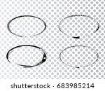 vector frames. ovals for image. ...   Shutterstock .eps vector #683985214