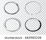 vector frames. ovals for image. ... | Shutterstock .eps vector #683985238