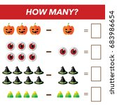 mathematics tasks for preschool ... | Shutterstock .eps vector #683986654