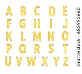 glowing neon style letter... | Shutterstock . vector #683992660