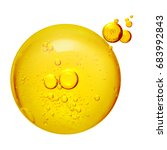 bubbles oil or serum isolated... | Shutterstock . vector #683992843