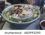 pork slice bar b q.  thai... | Shutterstock . vector #683993290