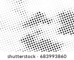 abstract halftone dotted... | Shutterstock .eps vector #683993860