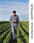 young handsome agriculture...   Shutterstock . vector #683994628