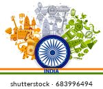 15th august independence of... | Shutterstock .eps vector #683996494