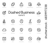 business black line icons set... | Shutterstock . vector #683997238