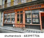 traditional store in montrejeau ... | Shutterstock . vector #683997706